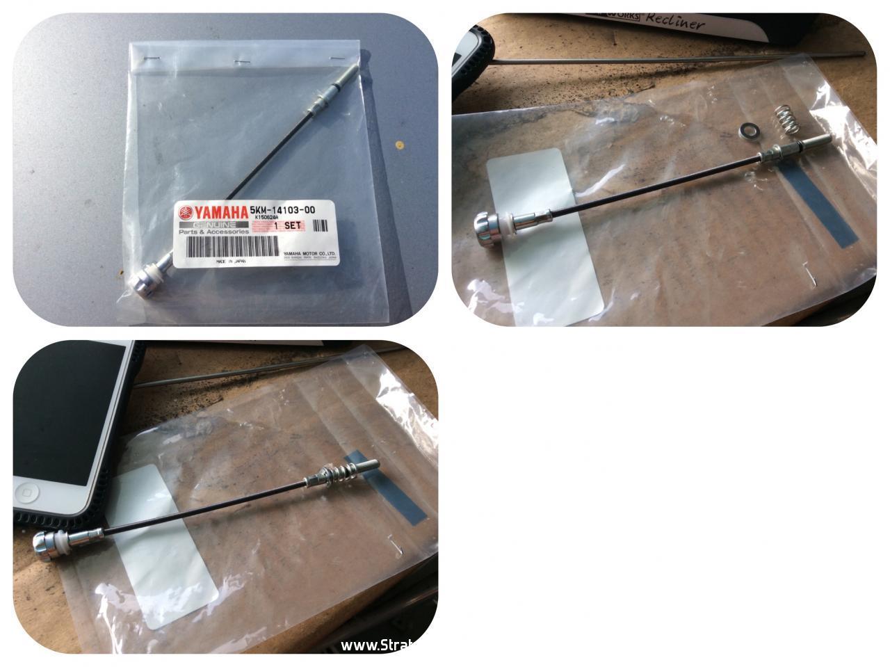 CABLE ADJUSTER 5KM-14103-00-00, YAMAHA GRIZZLY 660 CARBURETOR IDLE SCREW SET
